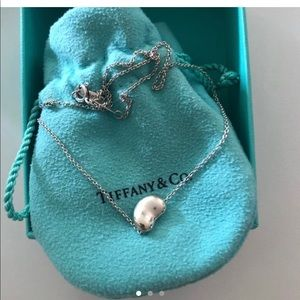 Tiffany and co small bean necklace